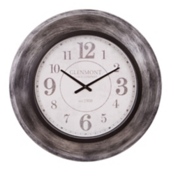 Modern Gunmetal Slope Framed Wall Clock