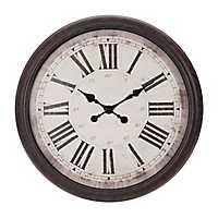 Antique Bronze Baldauf Roman Numeral Wall Clock