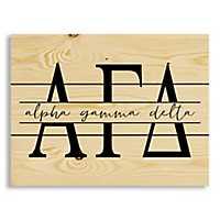 Alpha Gamma Delta Script Wood Pallet Plaque
