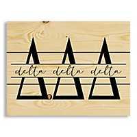 Delta Delta Delta Script Wood Pallet Plaque