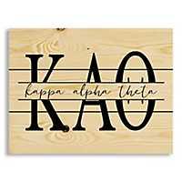 Kappa Alpha Theta Script Wood Pallet Plaque