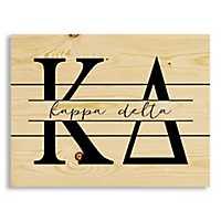 Kappa Delta Script Wood Pallet Plaque