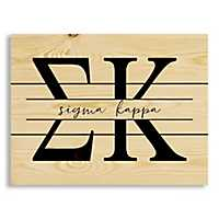 Sigma Kappa Script Wood Pallet Plaque