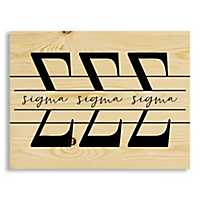 Sigma Sigma Sigma Script Wood Pallet Plaque