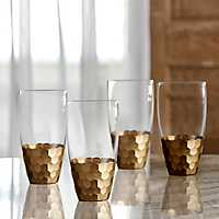 Gold Daphne High Ball Tumblers, Set of 4