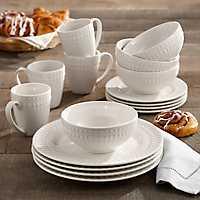 White Amelie 16-pc. Dinnerware Set