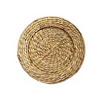 Woven Water Hyacinth Chargers, Set of 4