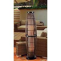 Tahiti Caged Rattan Outdoor Floor Lamp