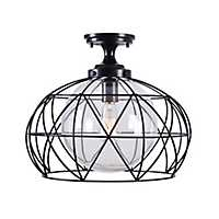 Celine Geometric Flush Mount Outdoor Light