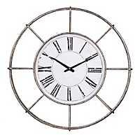 Silver Sandy Metal Wall Clock