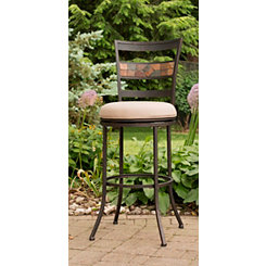 midnight mocha swivel mushroom outdoor bar stool - Decorating Adirondack Chairs For Christmas