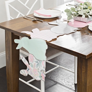 Patterned Bunny Table Runner