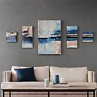 Overseas Gel-Coated Canvas Art Prints, Set of 5