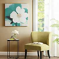 Teal Mid-Day Bloom Canvas Art Print
