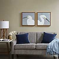 Bird Thoughts Framed Canvas Art Prints, Set of 2