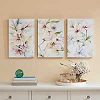 Floral Nectar Canvas Art Prints, Set of 3