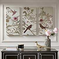 Songbird Gel-Coated Canvas Art Prints, Set of 3