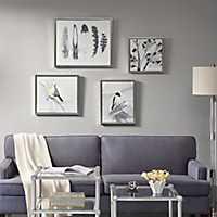 Plume Framed Canvas Art Prints, Set of 4