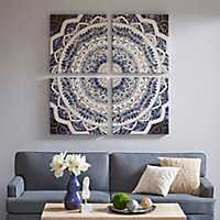 Boho Medallion Gel Canvas Art Prints, Set of 4