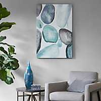 Hand Embellished Pebbles Canvas Art Print