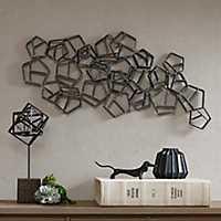 Spire Spiral Tin-Plated Metal Wall Sculpture