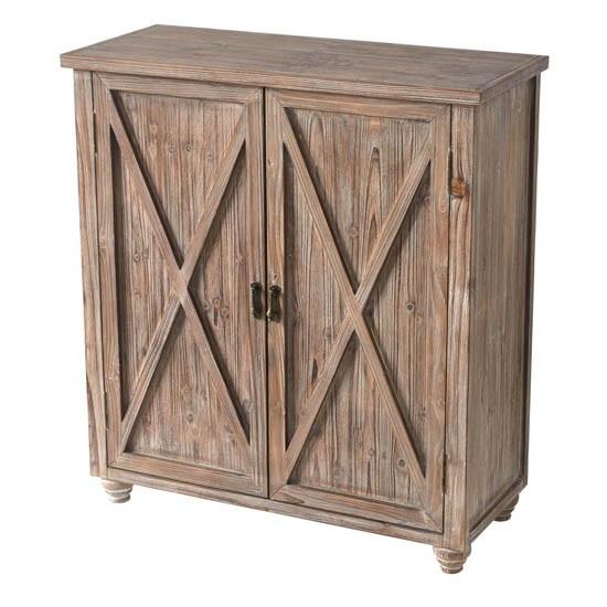 Incroyable Mallory Rustic Barn Door Cabinet