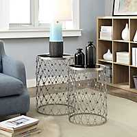 Marabelle Nested Metal Accent Tables, Set of 2