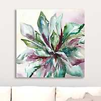 Watercolor Succulent II Giclee Canvas Art Print