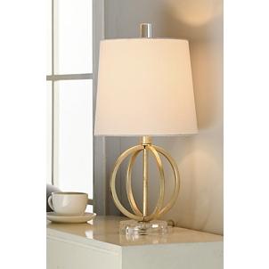 Antique Gold Table Lamp With Steel Base Kirklands
