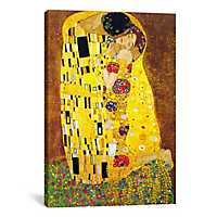 The Kiss By Gustav Klimt Canvas Art Print