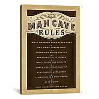 Man Cave Rules Canvas Art Print