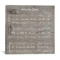 Amazing Grace Sheet Music Canvas Art Print