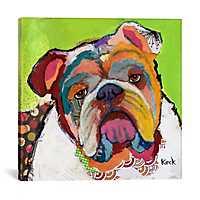 American Bulldog Canvas Art Print by Kroto Arts
