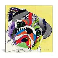 Pug Canvas Art Print by Kroto Arts