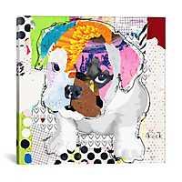 Bulldog Puppy I Canvas Art Print by Kroto Arts