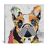 French Bulldog Head Canvas Print by Kroto Arts