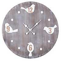 Round Bird Wall Clock