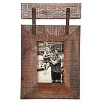Rustic Hanging Single Photo Picture Frame, 4x6