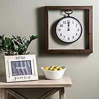 Garrison Framed Wall Clock