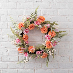 Rose, Holly, and Palm Leaf Wreath