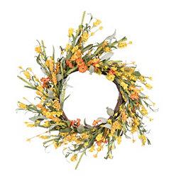 Orange Mixed Flower Wreath