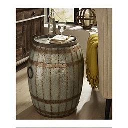 Vineyard Wine Barrel Storage Accent Table