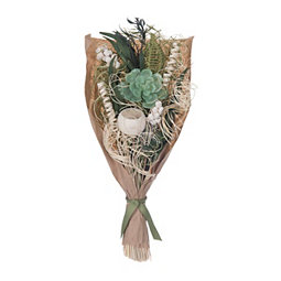 Dried Greenery and Succulent Bouquet