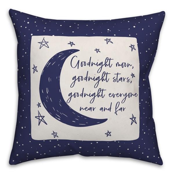 Goodnight Moon Goodnight Stars Reversible Pillow