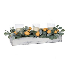 Lemon and Eucalyptus Candle Centerpiece