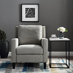 Gray Upholstered Pillow Back Accent Chair