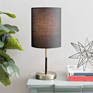 Brass Table Lamp With Black Shade Kirklands
