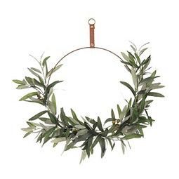 Olive Leaf Hoop Wreath