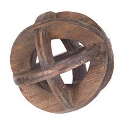 Wooden Open Sphere Orb, 4 in.