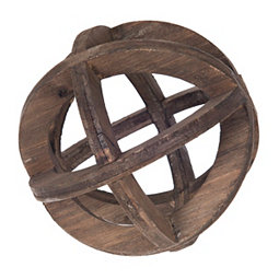 Wooden Open Sphere Orb, 6 in.